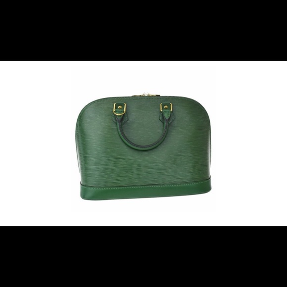 ee8b4f03b9c6 Alma classic menthe green epi leather tote